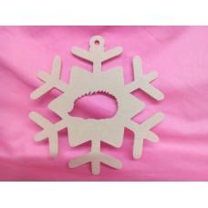 4mm MDF Hedgehog Snowflake